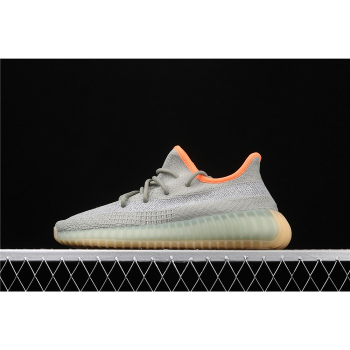 Adidas Yeezy Boost 350 V2 Desert Sage Shoe In Grey Orange