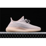 Adidas Yeezy Boost 350 V2 Synth Shoe In Gray Pink