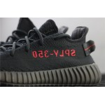 Adidas Yeezy Boost 350 V2 Real Basf Shoe In Black Red Logo