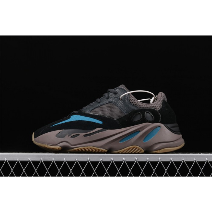 Adidas Calabasas Yeeyz Boost 700 Prussian Blue Shoe In Black