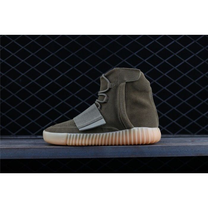 Adidas Yeezy Boost Basf 750 Glow In Dark Shoe In Army Green