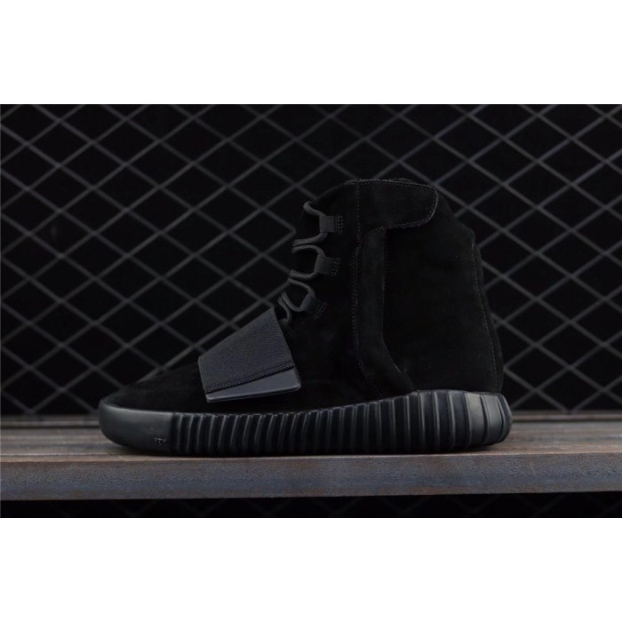 Adidas Yeezy Boost Basf 750 Glow In Dark Shoe In Full Black