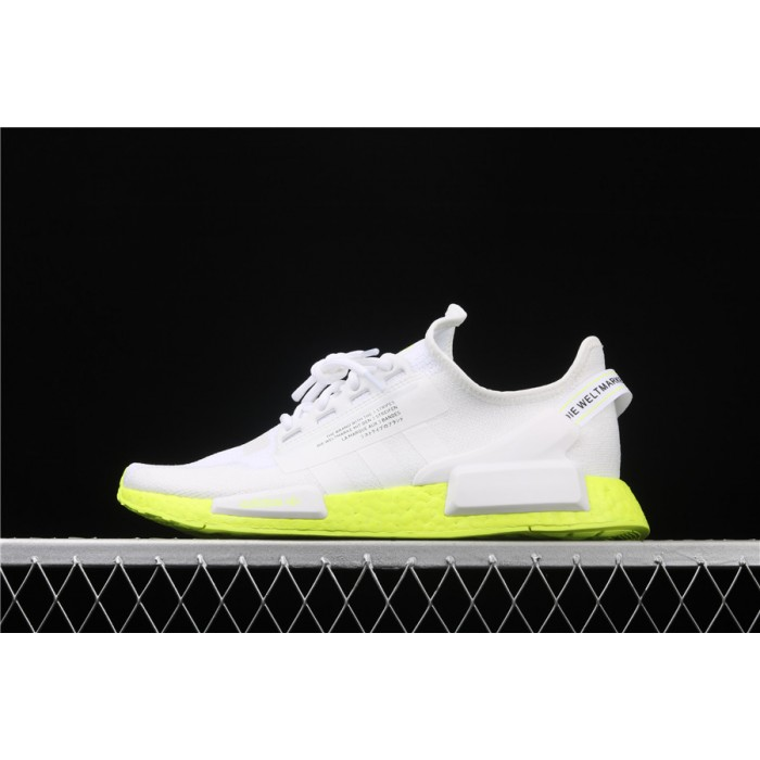 Adidas NMD Real Boost R1 V2 FX3903 White Fluorescent