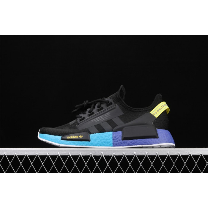 Adidas NMD Real Boost R1 V2 FX4147 Black Blue