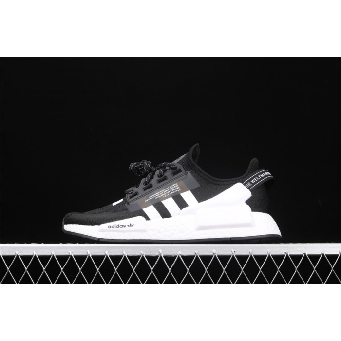 Mens Adidas NMD Real Boost R1 V2 FV9021 Black White