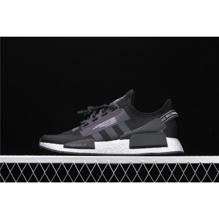Mens Adidas NMD Real Boost R1 V2 FV9022 Black 3M