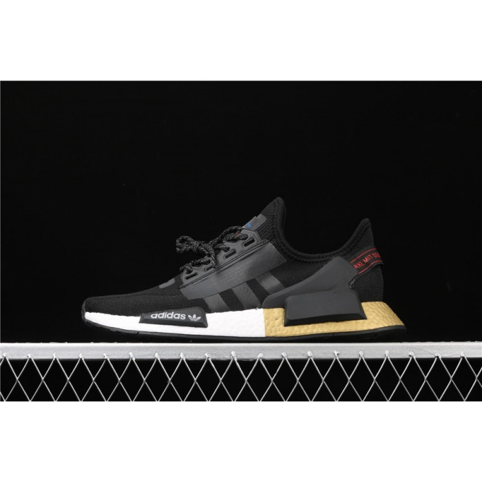 Mens Adidas NMD Real Boost R1 V2 FW5327 Black Golden