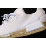 Mens Adidas NMD Real Boost R1 V2 FW5450 Cream Golden