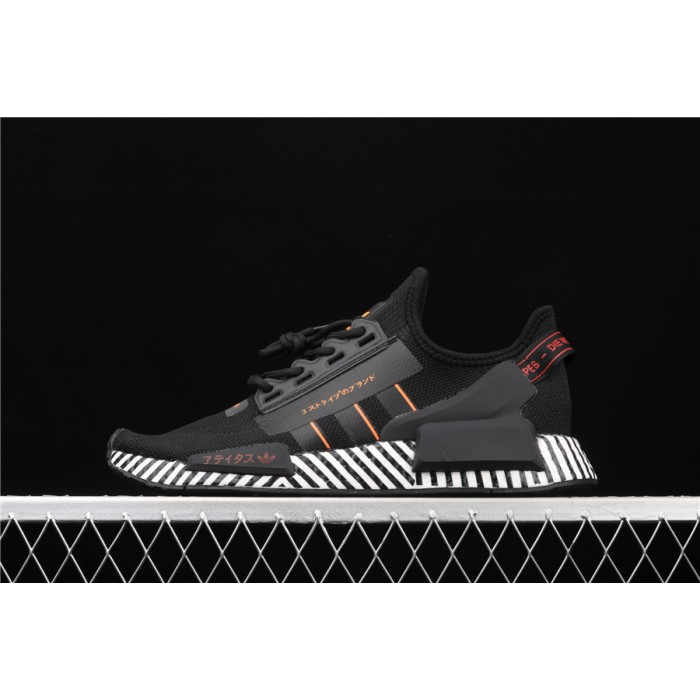 Mens Adidas NMD Real Boost R1 V2 FW6411 Black Stripe