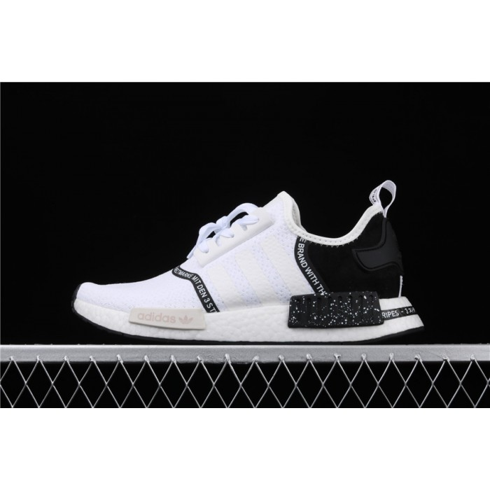 Adidas NMD Real Boost R1 Originals Taping EF3326 White Black