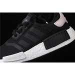 Womens Adidas NMD Real Boost R1 B37645 Black White