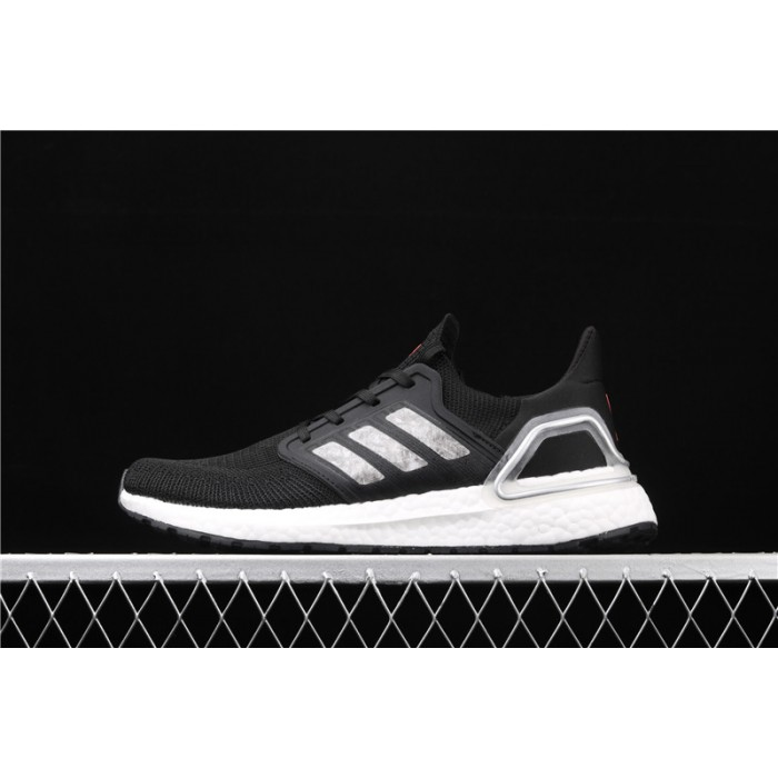Men's Adidas Ultra Boost 20 Consortium EG0766 Black Silver