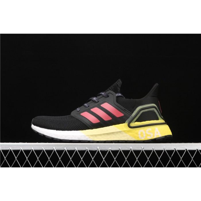 Men's Adidas Ultra Boost 20 Consortium EG4369 Black Yellow
