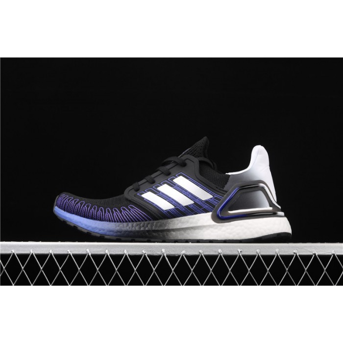 Men's Adidas Ultra Boost 20 Consortium FV0033 Black Purple