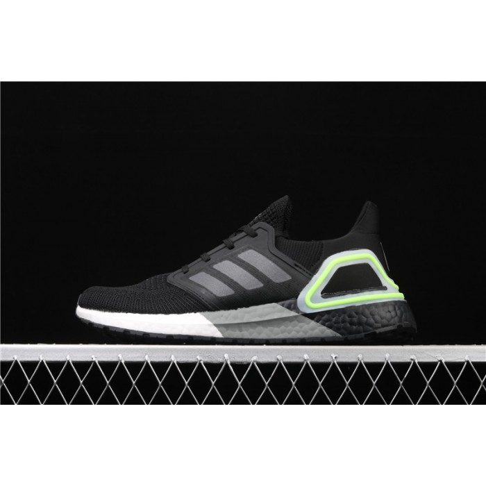 Men's Adidas Ultra Boost 20 Consortium FY3452 Black Fluorescent