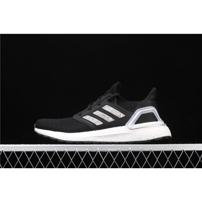 Men's Adidas Ultra Boost 20 Consortium White EG0756 Black