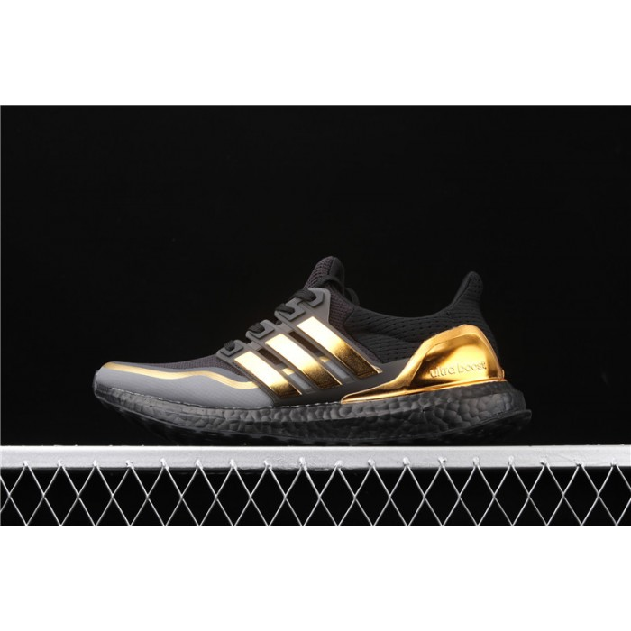 Men's Adidas Ultra Boost 2.0 EG8102 Black Golden