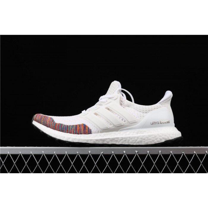 Men's Adidas Ultra Boost 10 Multicolor Toe BB7800 White Smoke Grey