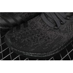 Men's Adidas Ultra Boost Uncaged Triple Black BA7996 Dark Purple